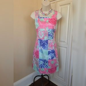 Lilly Pulitzer Patchwork Frogs Sheath Dress - 2